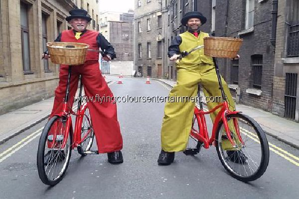 Stilt Bicycles & Bicycles for Stilt Walkers